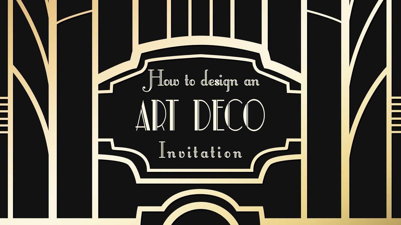 photoshop tutorial art deco great gatsby invitations