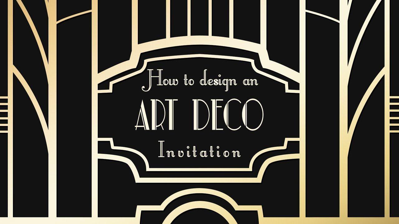 Photoshop Tutorial - Art Deco (Great Gatsby) Invitations ...