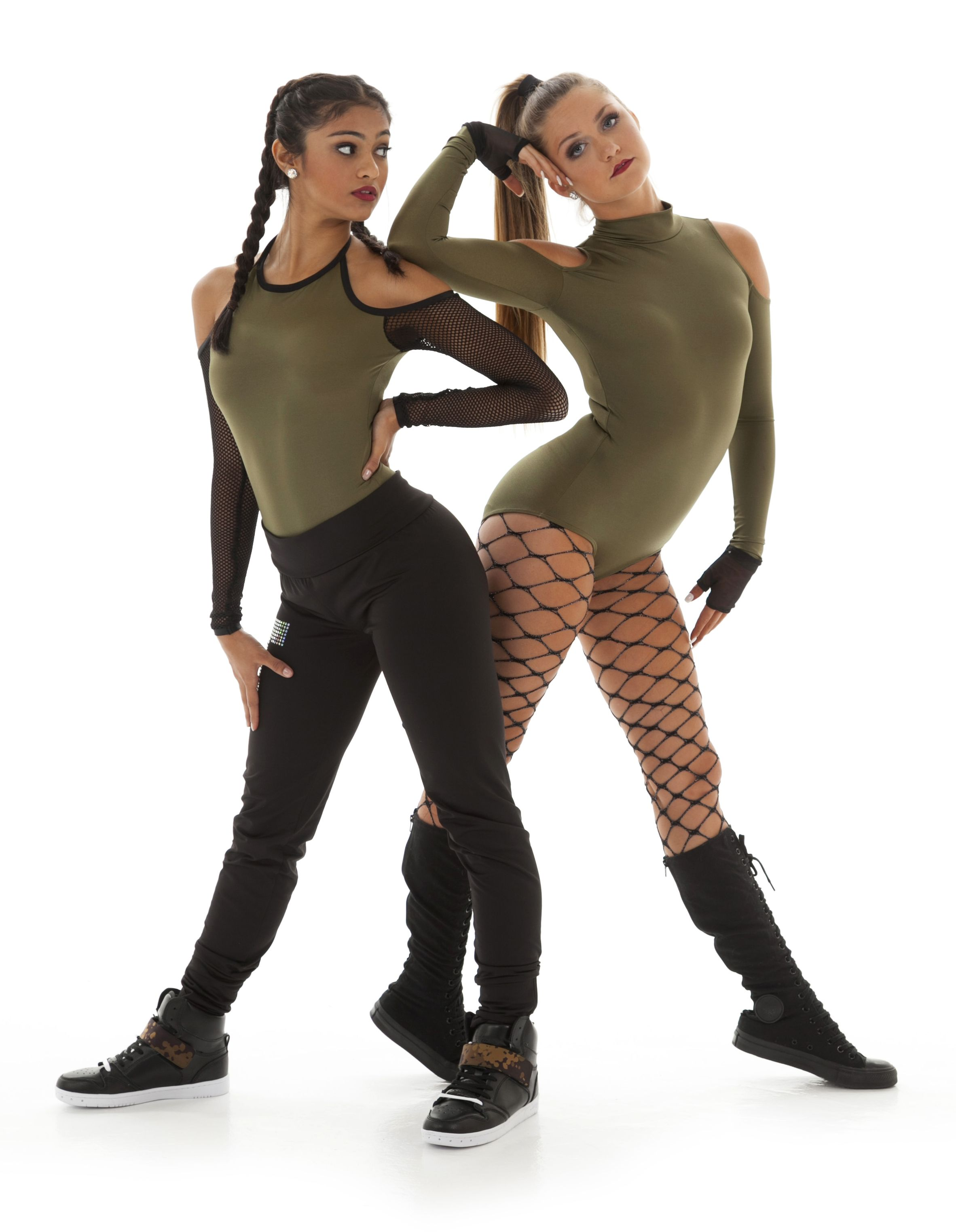 3462bc990992 Cold shoulders   Attitude. Shop new hip hop dance costume designs at ...