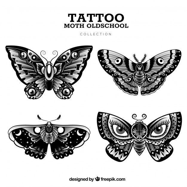 Old school butterfly tattoo collection Free Vector  tattoo designs ideas männer männer ideen old school quotes sketches