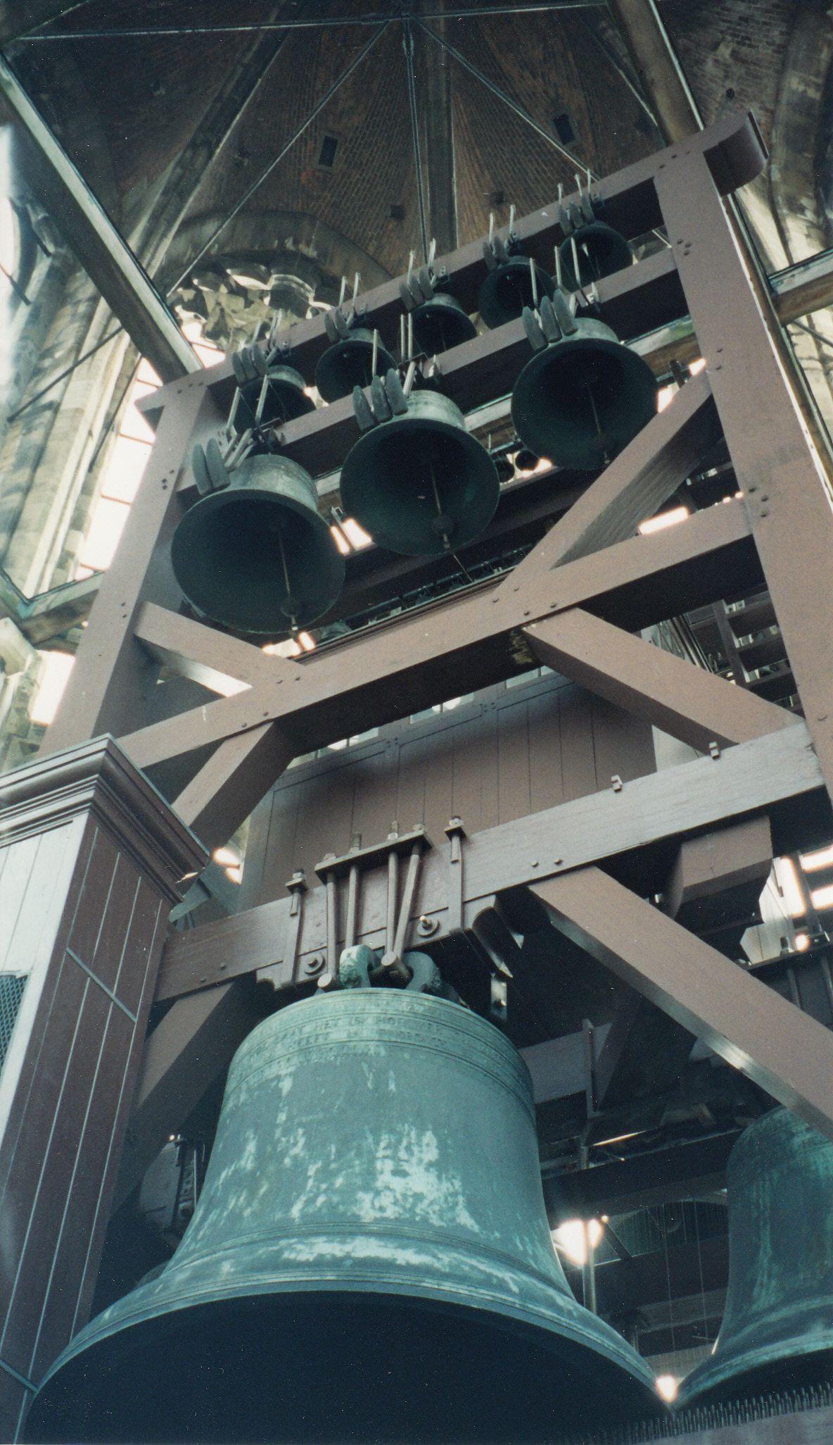 Bell tower of the church in utrecht utrecht