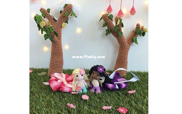 Маленькие феи, волшебное дерево и цветочный домик | Цветочный
