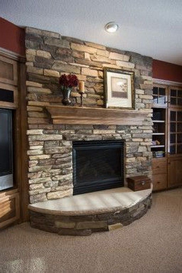 26 Awesome Traditional Stone Fireplace Decorating Ideas You Can