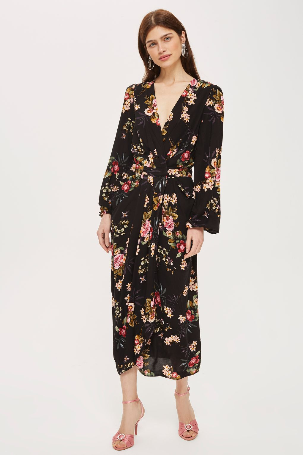 Floral Print Kimono Sleeve Maxi Dress by Y.A.S - New In Fashion ... 793f4002d