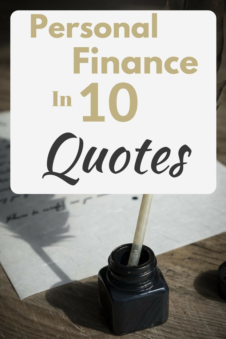 Finance Quotes Personal Finance In 10 Quotes  Personal Finance Frugal And