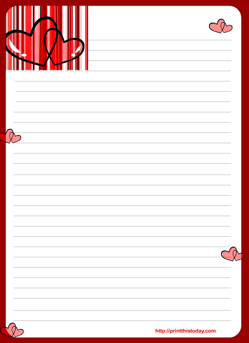Free Printable Valentines Day Stationary | Hearts | Pinterest ...