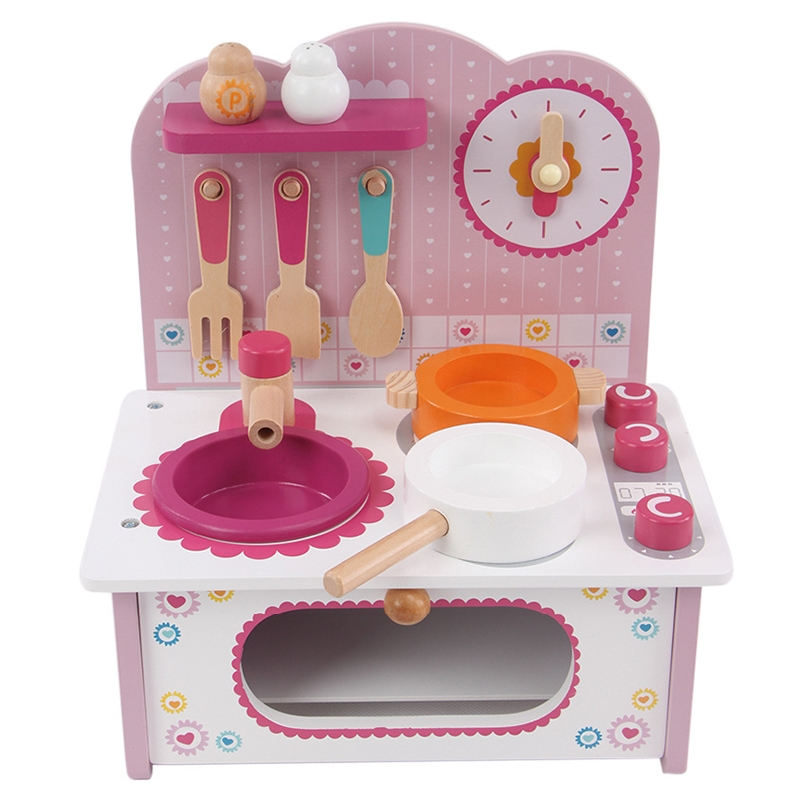 (37.99$)  Buy here - http://aiplb.worlditems.win/all/product.php?id=32601999623 - Artificial Mini Wooden Kitchen Toys Set Children Pretend Play Kitchen Toys Child Multifunction Educational Toys Birthday Gift