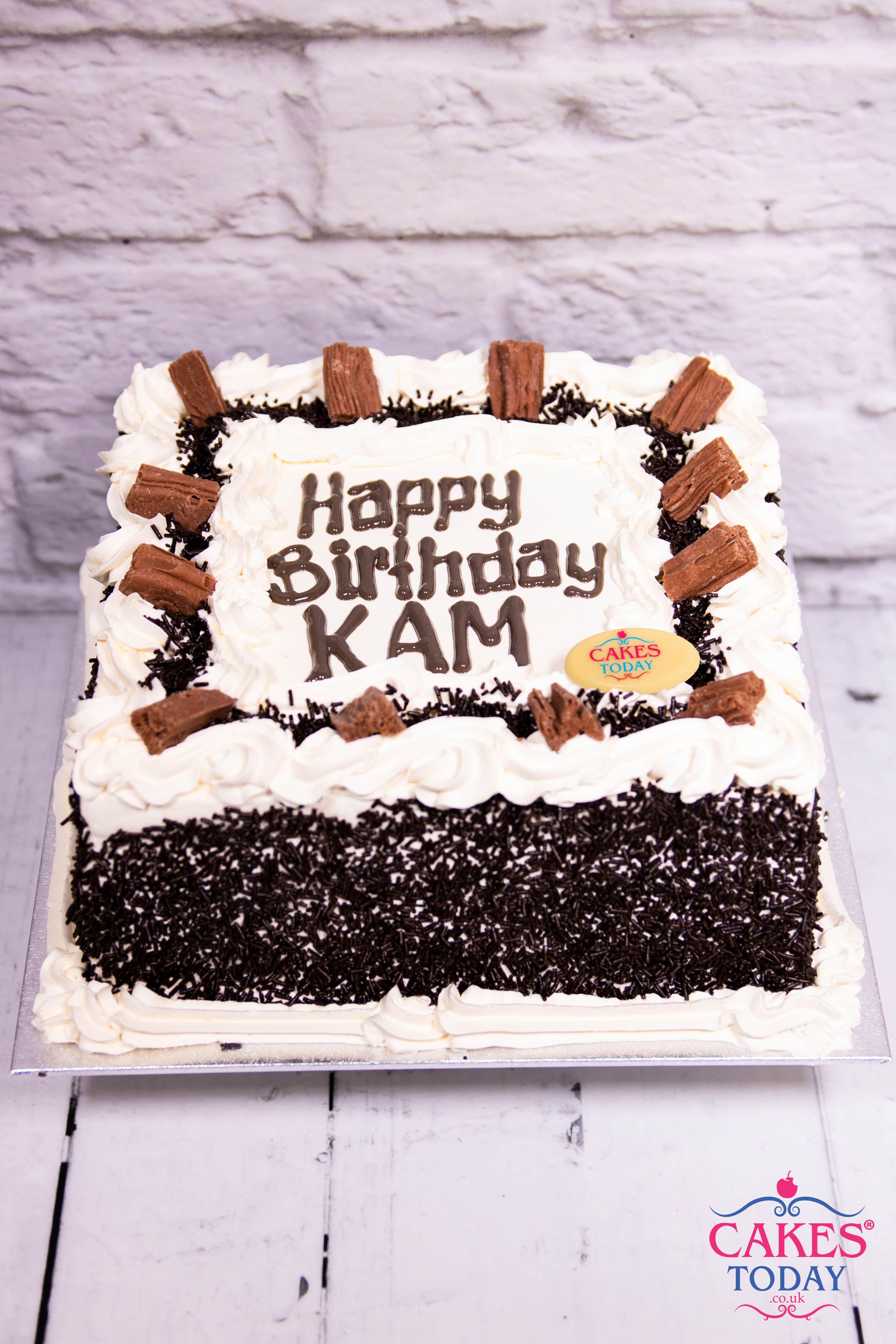 Our Chocolate Flakes Sprinkles Celebration Cake Is A Customer Favourite CakesToday BirthdayCake London