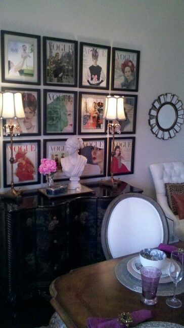 Vintage Vogue  my dining room jhurney