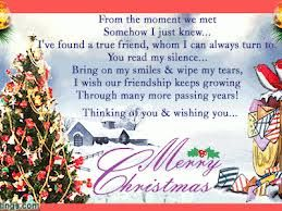 Christmas Card Messages Friendship Ownerletter Co