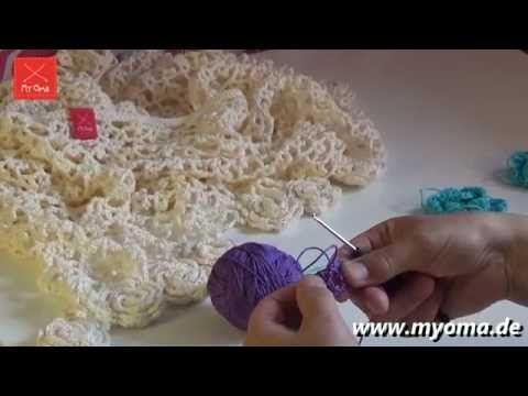Anleitung Broomstick Lace Häkeln - YouTube | Decke 2 | Pinterest ...