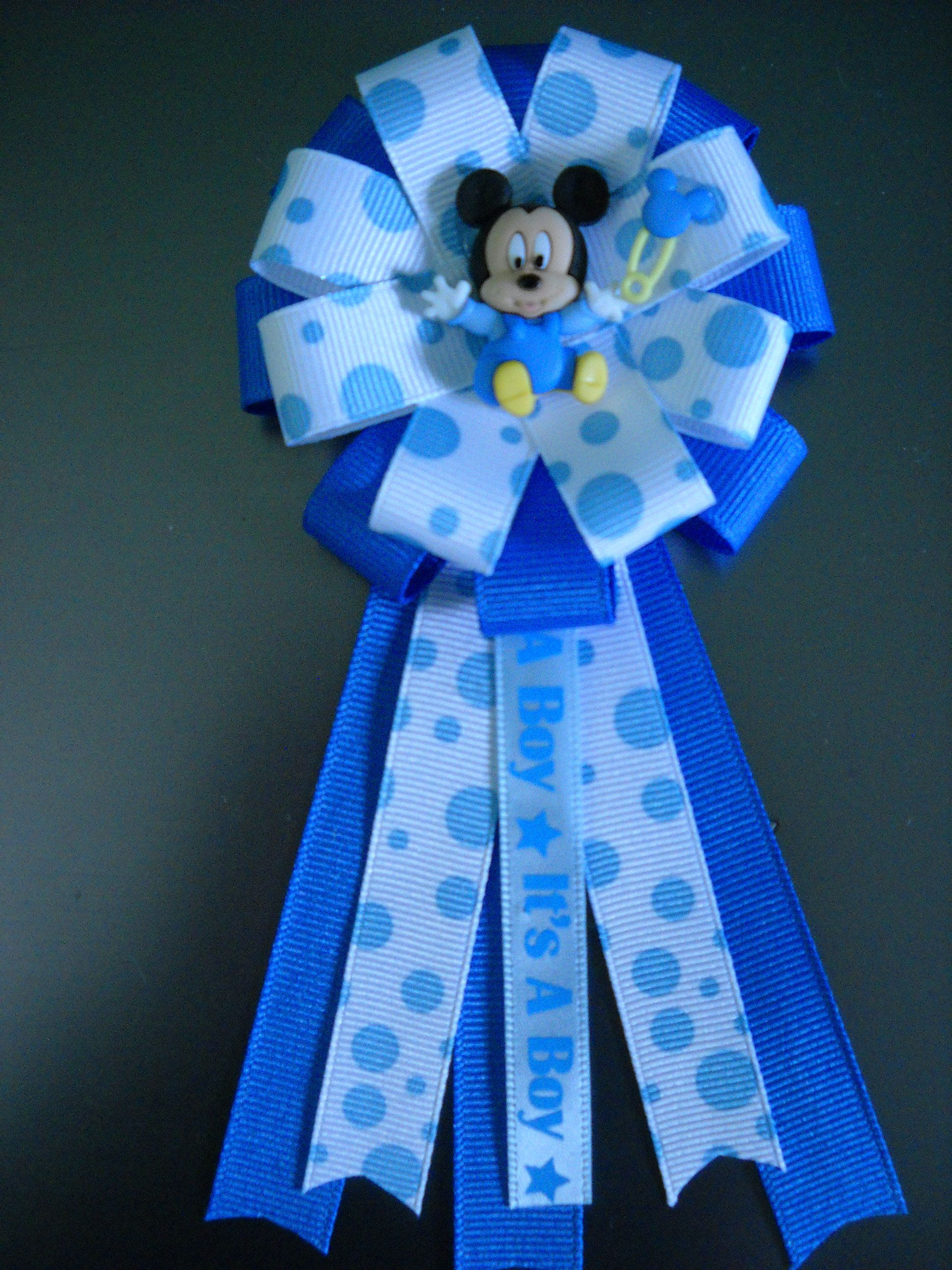 Baby Mickey Mouse Baby Shower Corsage Mickey Mouse Baby Shower