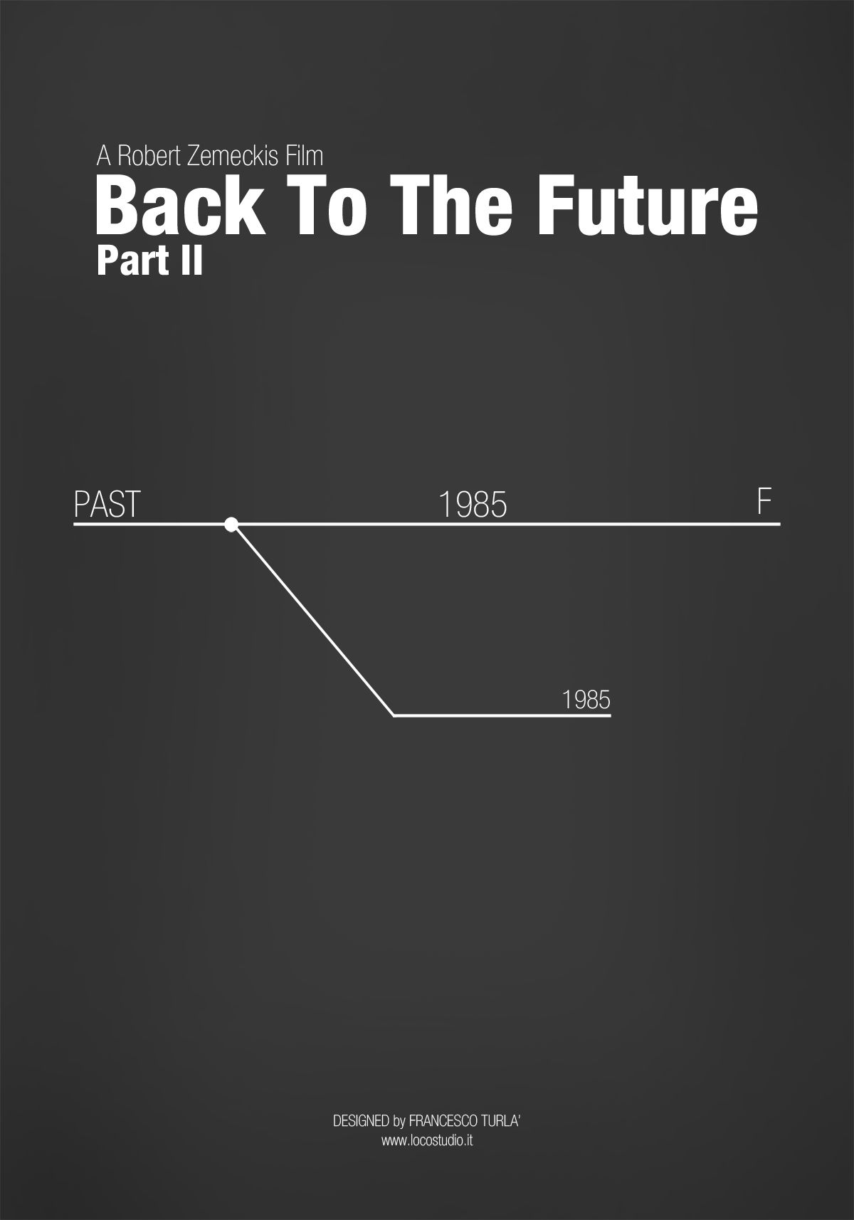 back to the future part ii 1989 minimal movie poster
