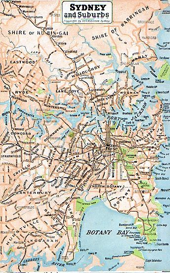 Sydney map Forgotten picnic grounds Pinterest Sydney
