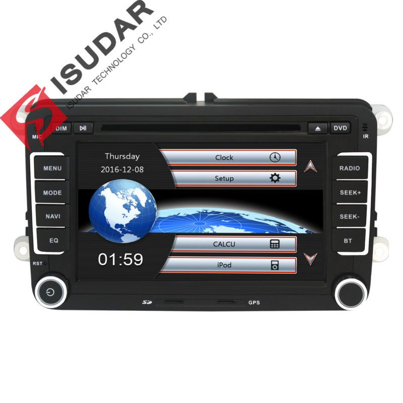 Commercio all'ingrosso! 2 Din 7 Pollice Car DVD Player Per VW/Volkswagen/Passat/POLO/GOLF/Skoda/sedile/Leon Con Le Mappe GPS Navigaiton IPOD FM RDS