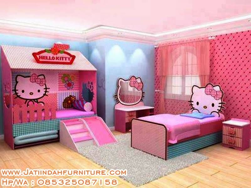 Everyone Will Love This Cute Hello Kitty Themed Bedroom And Accessories Ideas Especially If You Are A Hello Kitty Bedroom Hello Kitty Bed Kids Bedroom Designs