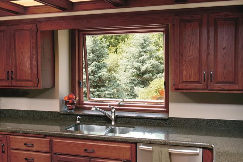 Awning Window Above The Kitchen Sink Made Possible By