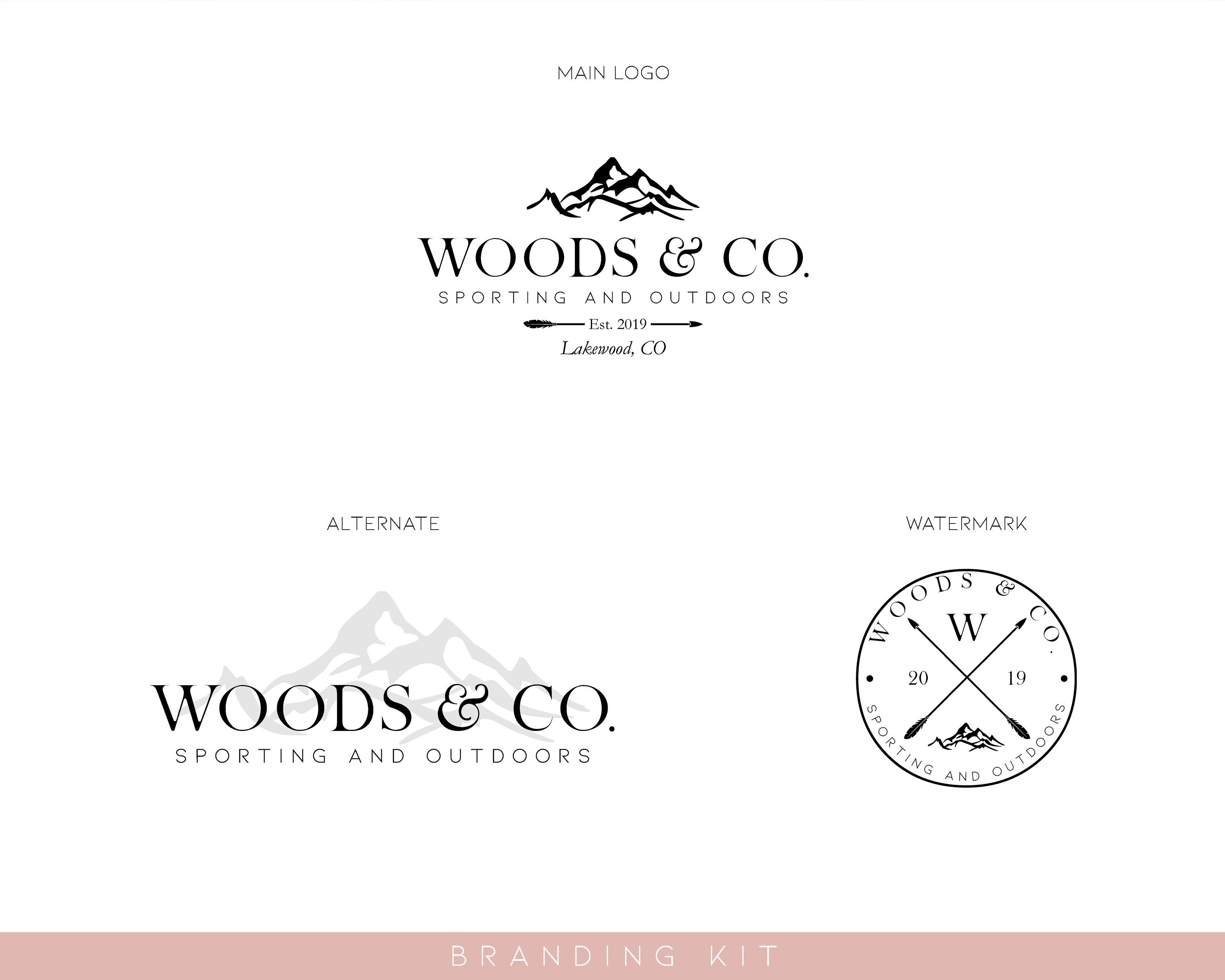Mountain Logo Watermark Branding Kit design no. 170