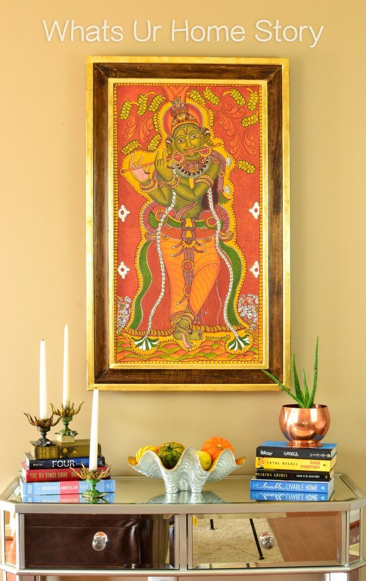 Home interior ideas kerala my momus krishna mural painting u a diy frame  mural painting