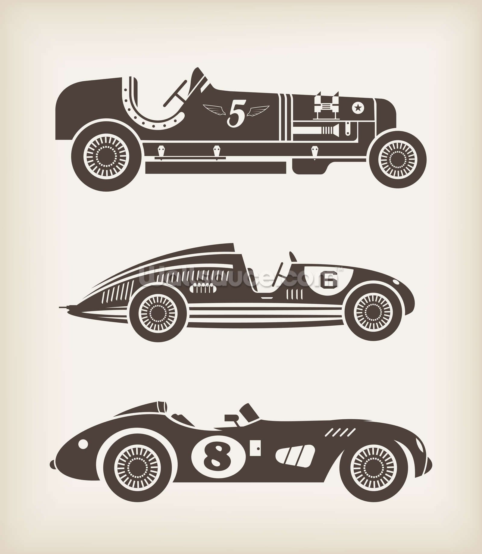 Vintage Racing Car Wall Art Vintage Racing Car Silhouette