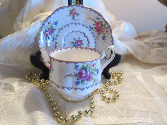 Royal Albert Petit Point Tea Cup and Saucer by AntiquesandCoinsJL