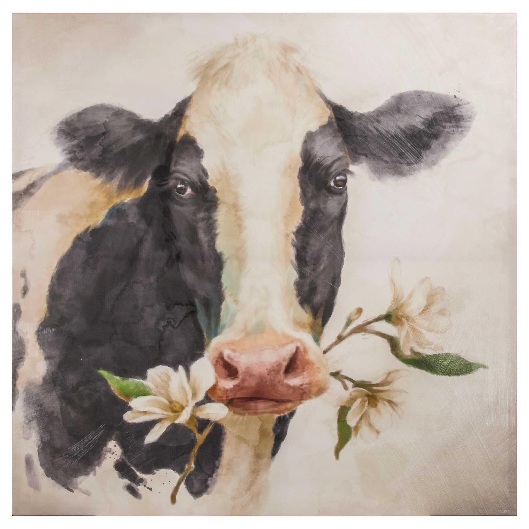Magnolia Cow Canvas Art Print Kirklands Cow Canvas Cow Art Cow Painting