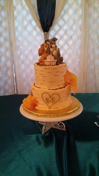 Lady And The Tramp Wedding Cake Disney Wedding Cake Wedding Cake Numbers Themed Wedding Cakes