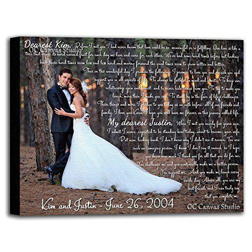 vows lyrics poem. quotes Custom Canvas Print Your wedding photo with words
