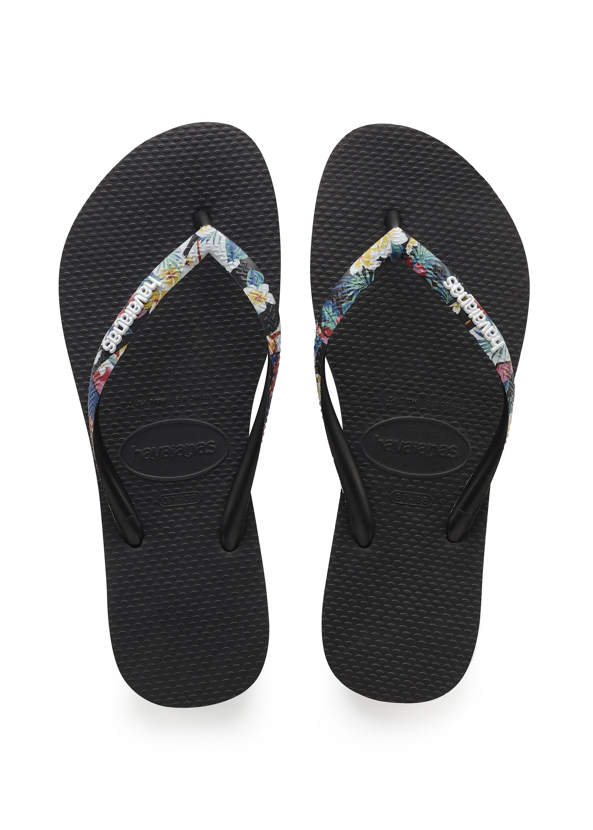 1460b3fee29f Havaianas Slim Tropical Straps Sandal Black Price From  £22.34