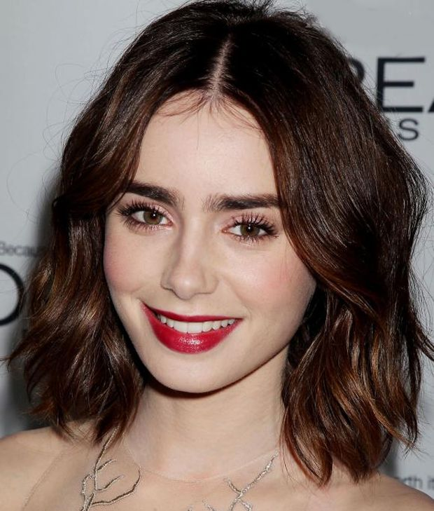 Lily Collins Hairstyle Collection 2015 Amazing Short Hair Lily