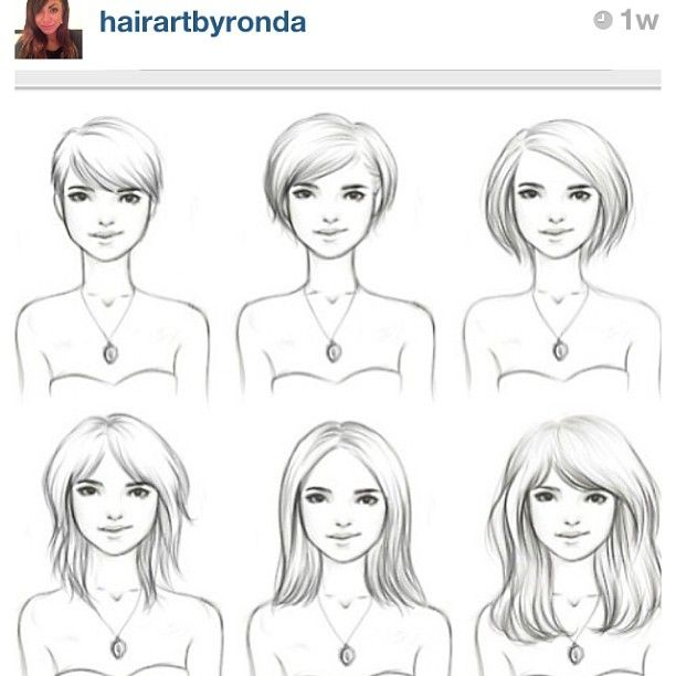 love this diagram showing how to grow out short hair