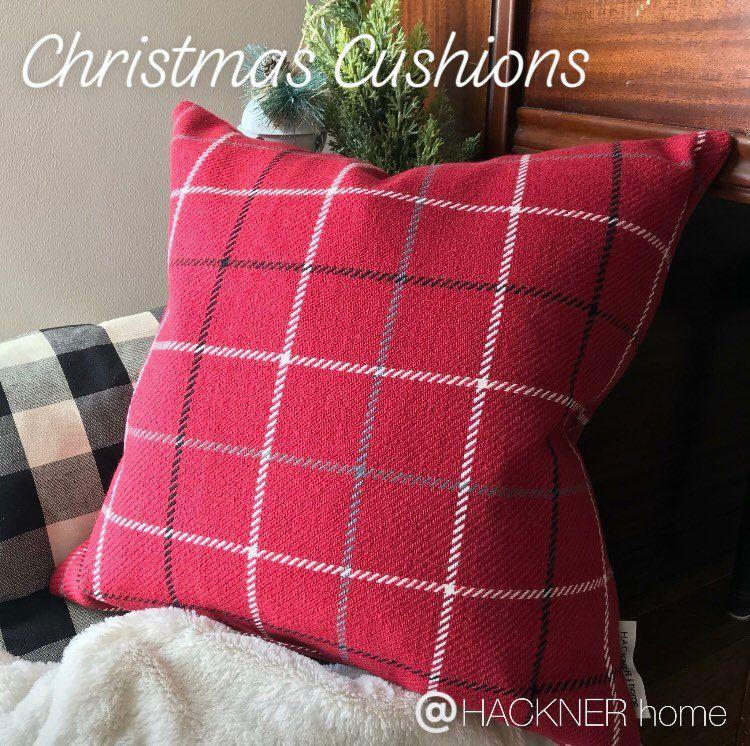 Plaid Pillow Cover, Berry Red Plaid Pillow cover, Christmas Plaid
