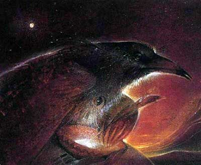 Susan Seddon Boulet Animal Spirits Raven Corbeau Raven Makes