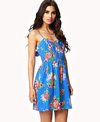 Cutout Floral Dress | FOREVER 21 - 2041721774