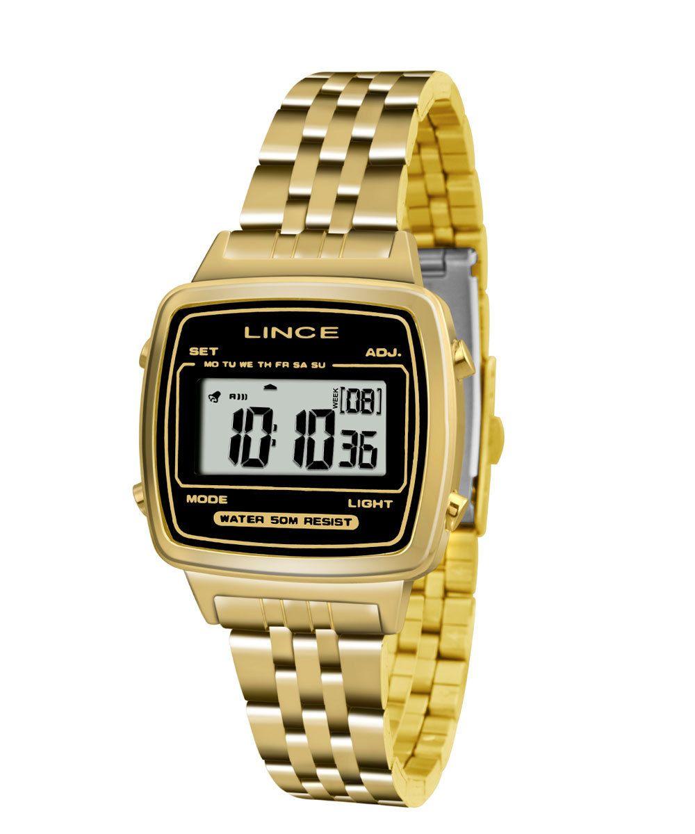 ca9a9b3dba6 Relógio Feminino Digital Lince SDPH040L BPKX