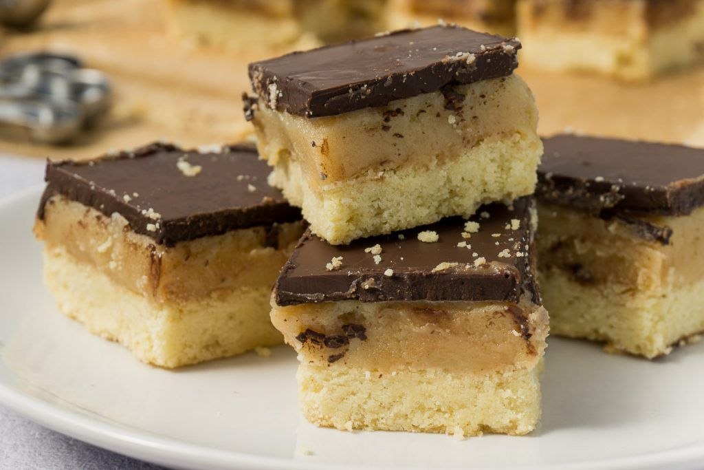 Easy Millionaire S Shortbread Recipe Recipe In 2020 Homemade Twix Bars Recipe Cooking Chocolate Easy Bar Recipes