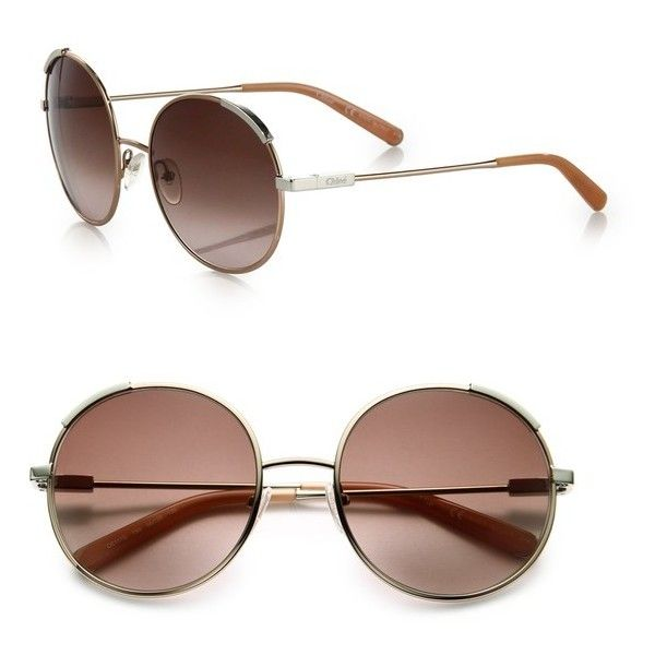 4c6cbb2a7a70 Chloé Eria 56Mm Round Sunglasses ( 345) ❤ liked on Polyvore featuring  accessories