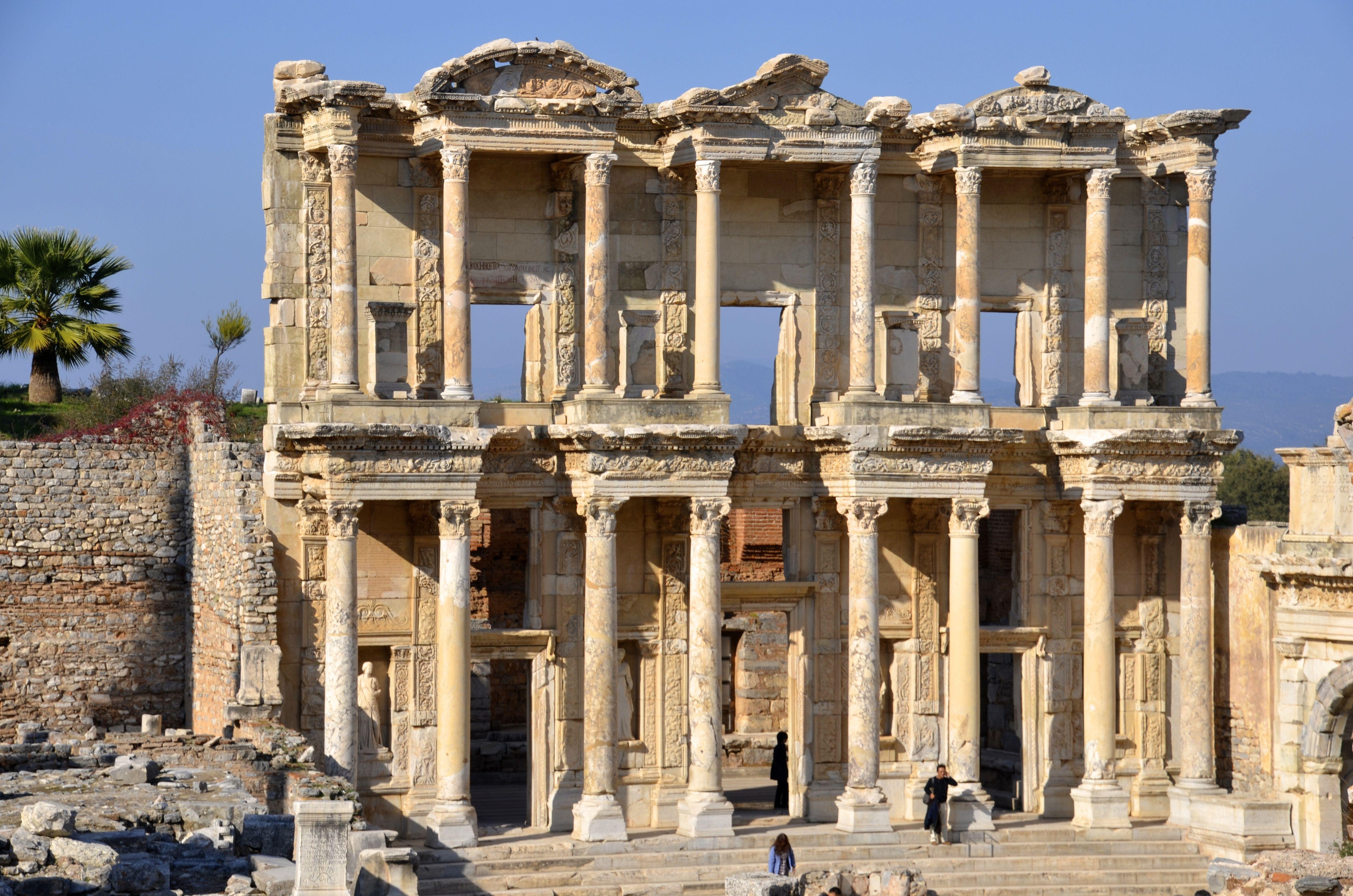 246-ROMAN TOWN PLANNING, Ephesus: [Proto-Baroque] Library of Celsus ...