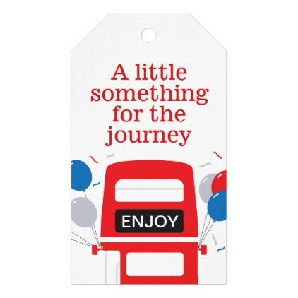 London Red Bus Personalised Gift Tag