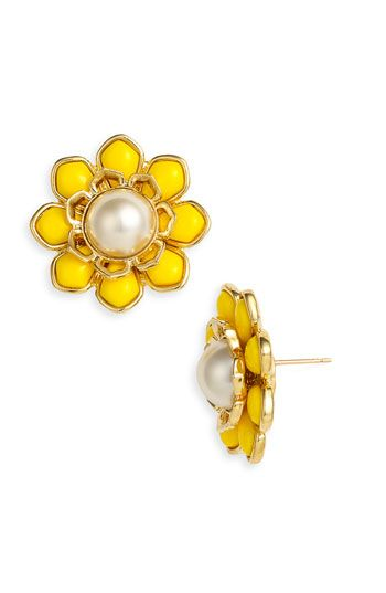 Kate Spade Sweet Zinnia Stud Earrings Very Bold But The Keeps It Tasteful And Clic