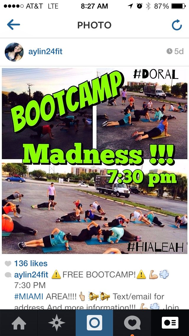 ⚠️FREE BOOTCAMP!⚠️7:30 PM  #MIAMI AREA!!!! Text/email for address And more information!!!  Join me!!  Info: (305)298-2808  Ask: Aylin  #doral #kendall #hialeah  #arepaso2 #Miami #pembroke #love #zumba #fit #may #um #bostonmarket #mcdonalds #food #fastfood