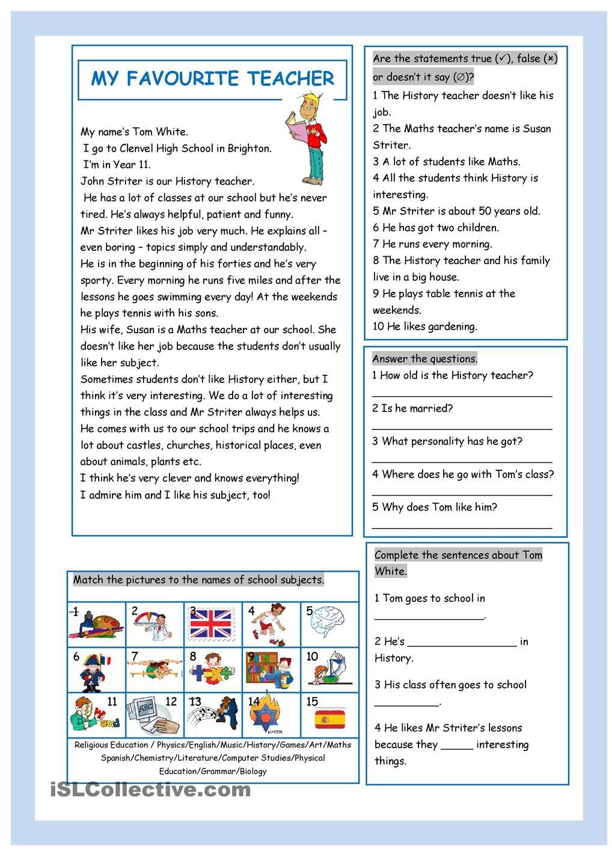 Elementary teacher worksheets ideas