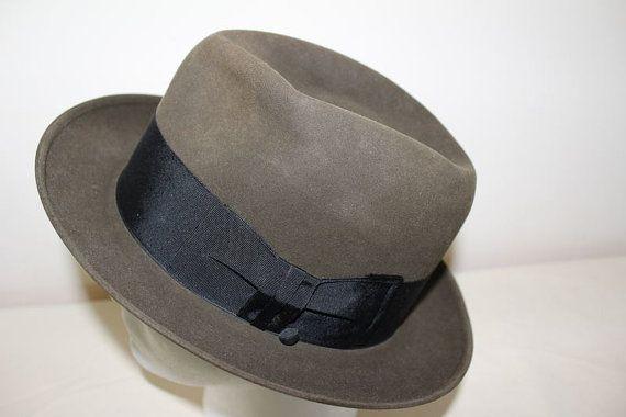 5c56a94571e Vintage Olive Dobbs Golden Coach Fur Felt Fedora Trilby Men s Hat ...