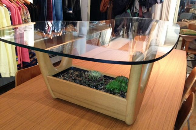 Good How To Make A Glass Top Display Coffee Table With Green Design