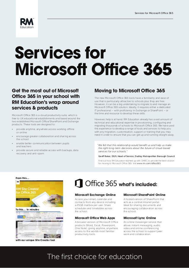 Rm Education Microsoft Office365 Fact Sheet Microsoft Application