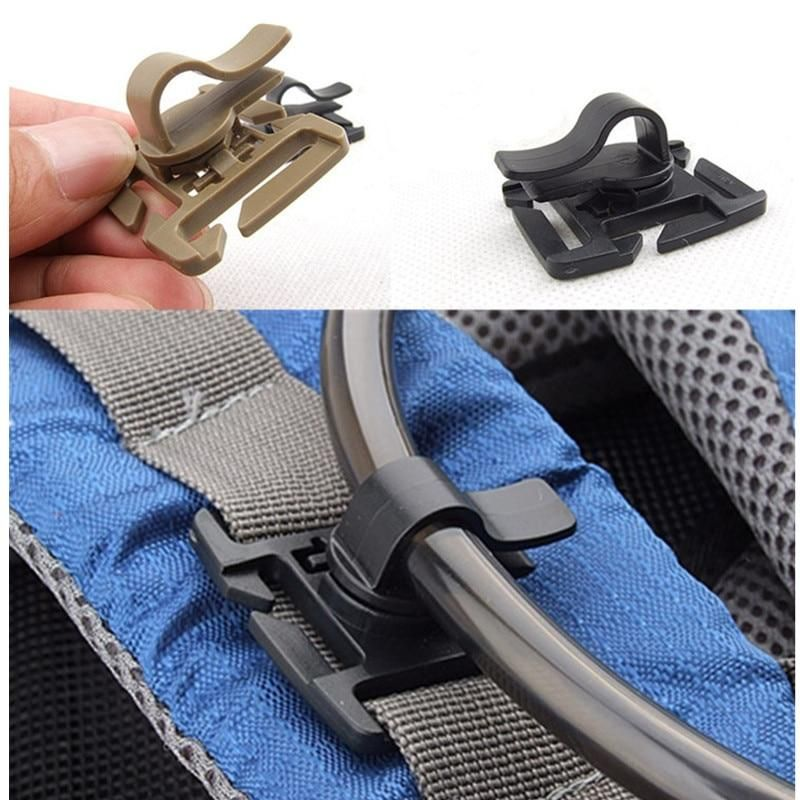 Buckle EDC Outdoor Carabiner Camping Hiking Accessories Drink Tube Clip