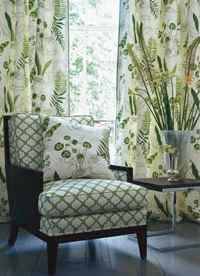 Curtains In Water Garden By Zoffany Cottage Curtains