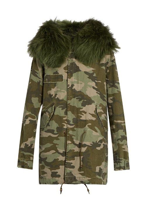 5ea42ec5f8a MR   MRS ITALY Camouflage-print fur-trimmed canvas parka.  mrmrsitaly   cloth  parka