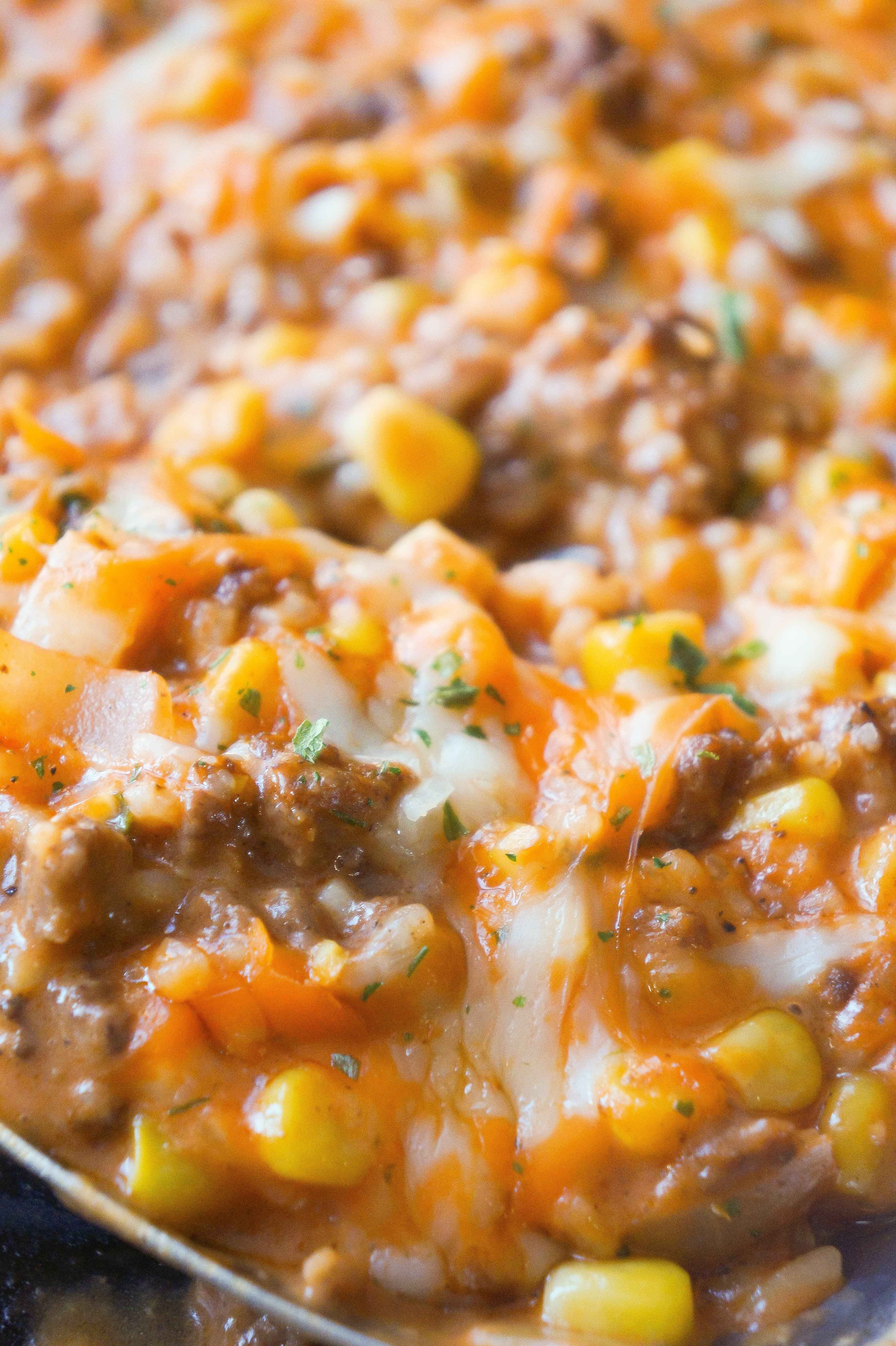 Cheesy Tomato Ground Beef And Rice Is An Easy Stove Top Dinner Recipe Packed With Flavour This Ground B Ground Beef Dishes Dinner With Ground Beef Beef Dinner