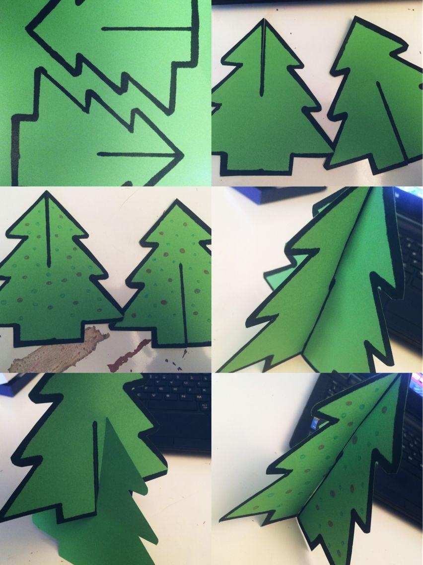 Kerstboom Knutselen Ballen Met Crepe Papier Kerst Knutselen Papieren Kerstbomen Kerst